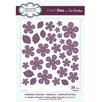 Punching and embossing template: flowers and leaves