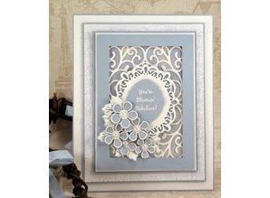 Creative Expressions Troquelado y estampado en relieve plantilla: flores y hojas