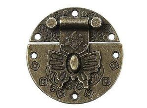 Embellishments / Verzierungen Scrapbooking lås, 1 stk, 4 cm