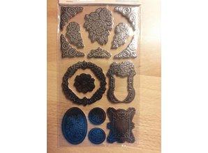 Embellishments / Verzierungen Metallic præget pap