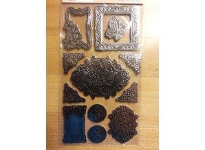 Embellishments / Verzierungen Metallic præget pap - Copy