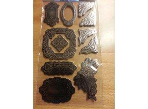 Embellishments / Verzierungen Metálico en relieve de cartón
