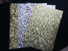 DESIGNER BLÖCKE  / DESIGNER PAPER A4 sheet laminated cardboard sheet in metal engraving, 4 sheets, Gold and Silver