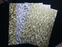 DESIGNER BLÖCKE  / DESIGNER PAPER foglio A4 foglio di cartone laminato in incisione in metallo, 4 fogli, Oro e Argento