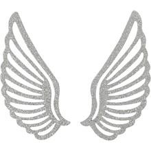 Embellishments / Verzierungen Metallflügel, 4 Stück