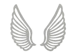 Embellishments / Verzierungen Metal wing, 4 pieces
