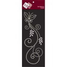 Embellishments / Verzierungen selbstklebende Crystal Transparent Perlen, Swirl mit Schmetterling