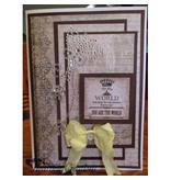 Embellishments / Verzierungen self Crystal Transparent perler, Swirl med Butterfly