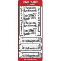 Ziersticker deutsche Text Banners