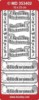 Sticker Ziersticker German text banner