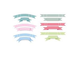 Marianne Design Stansning og prægning skabelon: XL Bannere