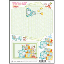 Marij Rahder twin set cards 01 baby