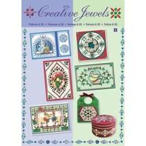 Creative template Jewels & 3D book