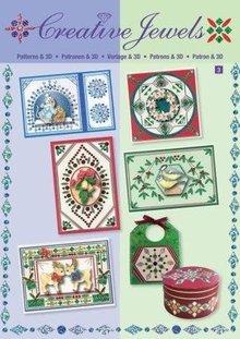 Bücher und CD / Magazines Creative template Jewels & 3D book