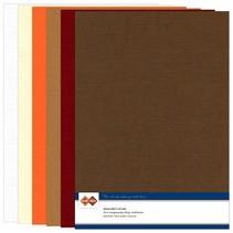 Set Leinen Karton, Herbstfarbe, A4