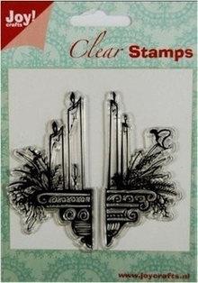 Stempel / Stamp: Transparent I timbri trasparenti: candele decorazione
