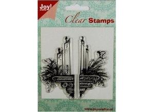 Stempel / Stamp: Transparent Gennemsigtige Frimærker: stearinlys dekoration