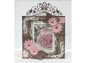 Joy!Crafts und JM Creation Punching and embossing templates: decorative frame with Rounded ends corner