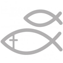 Punching and embossing template: fish communion