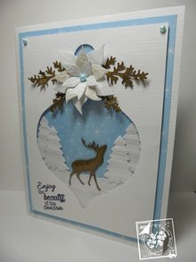 Marianne Design Stempling og prægning stencil, juletræ bolde