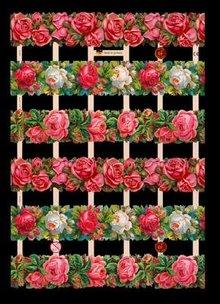 BILDER / PICTURES: Studio Light, Staf Wesenbeek, Willem Haenraets A5, Glanzbilder mit Glimmer Blumen
