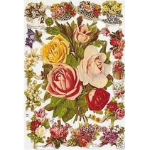 A5, kladjes met bloemen