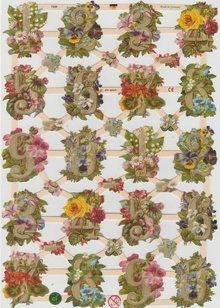 BILDER / PICTURES: Studio Light, Staf Wesenbeek, Willem Haenraets A5, Glanzbilder mit Zahlen mit Blumen