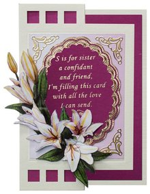 Sticker Decorative frame with text in English