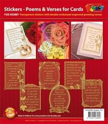Sticker Zierrahmen mit Gedichten in englisch