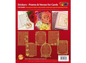 Sticker Decorative frame with poems in English