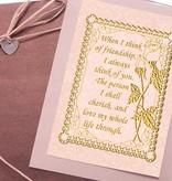 Sticker Dekorative ramme med digte på engelsk