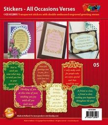 Sticker Cornice decorativa con poesie in lingua inglese
