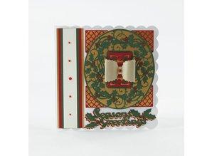 TONIC presning og prægning stencil: Christmas dekorativ ramme