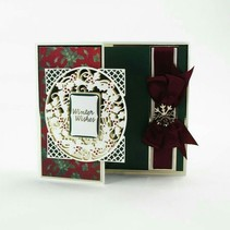 stamping and embossing stencil: Christmas decorative frame