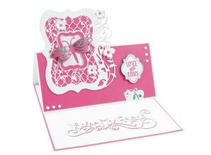 TONIC stamping and embossing folder: Flip Flop, Easel & frame with flowers
