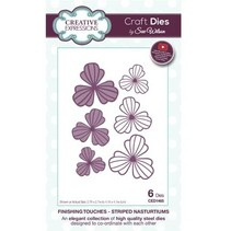 Punching and embossing template: Striped Nasturtiums