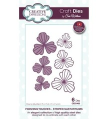 Creative Expressions Punching and embossing template: Striped Nasturtiums