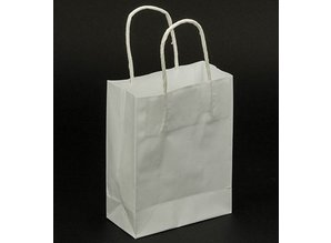 BASTELZUBEHÖR / CRAFT ACCESSORIES Paper bags, white, 5 pieces