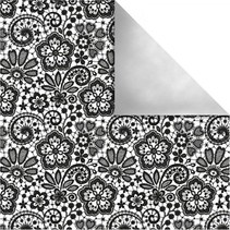 Design paper Paris, Retro Flowers