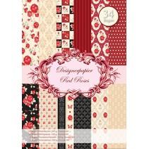 Designerpapierset Red Roses