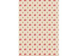 DESIGNER BLÖCKE  / DESIGNER PAPER Designerpapierset de las rosas rojas