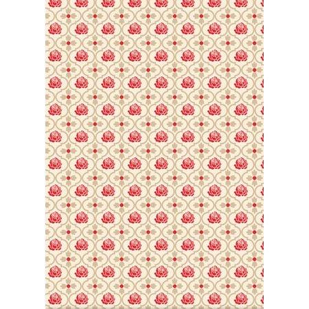 DESIGNER BLÖCKE  / DESIGNER PAPER Designerpapierset Red Roses
