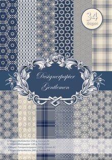 DESIGNER BLÖCKE  / DESIGNER PAPER NEU! Designerpapierset Gentleman