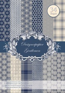 DESIGNER BLÖCKE  / DESIGNER PAPER NEW! Designerpapierset gentleman