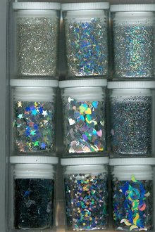 BASTELZUBEHÖR / CRAFT ACCESSORIES Set glitter