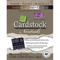 Set de papel de tarjetas neutrales