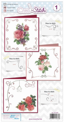 BASTELSETS / CRAFT KITS: Beautiful embroidery cards