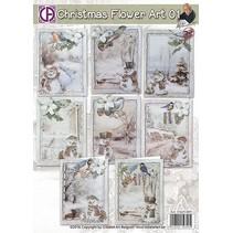 Paquete completo para 8 tarjetas de Navidad!