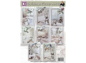 BASTELSETS / CRAFT KITS: Complete package for 8 Christmas cards!