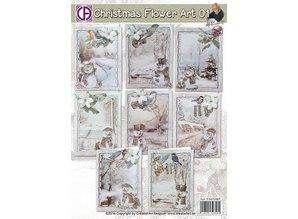 BASTELSETS / CRAFT KITS: Komplet pakke til 8 julekort!